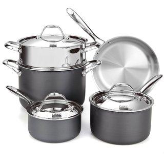 Cooks Standard NC-00390 8-piece Multi-ply Clad Hard Anodize Cookware Set