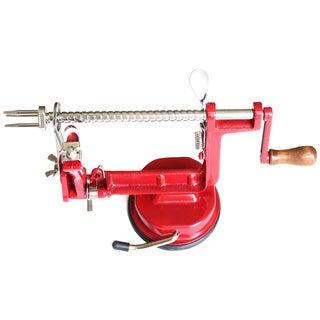 Cook N Home Red Suction Base Apple/ Potato Peeler/ Corer