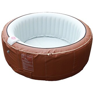 Homax 264-gallon Inflatable Brown 6-person Round Portable Hot Tub