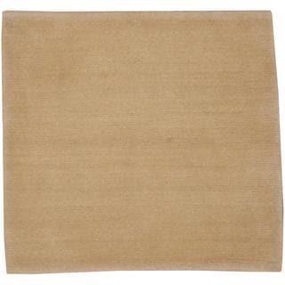 Herat Oriental Indo Tibetan Beige/ Beige Wool Rug (2' x 2')