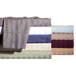 Andiamo Egyptian Cotton 500 TC Woven Stripe Sheet Set