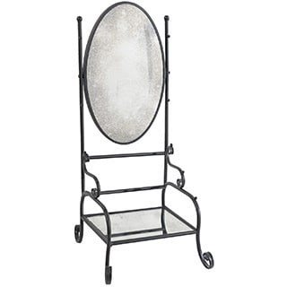 Bailey Wrought Iron Shelf and Mirror