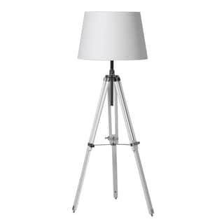 Contempo Lights Artech White 1-light Tripod Floor Lamp