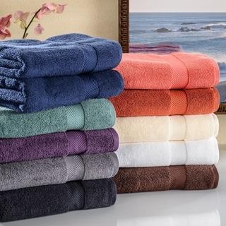 Miranda Haus Super Soft & Absorbent Zero Twist Cotton Bath Towel (Set of 2)