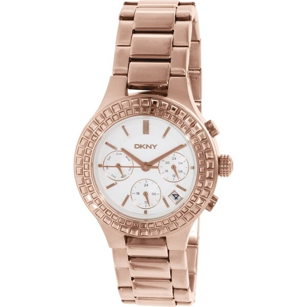 DKNY Women's NY2261 'Chambers' Chronograph Crystal Rose Gold Tone Stainless Steel Watch