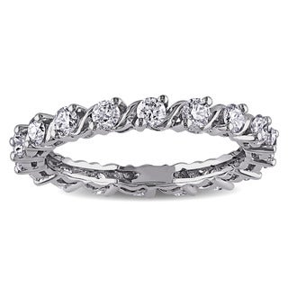 Miadora Signature Collection 14k White Gold 1ct TDW Diamond Eternity Ring (G-H, SI1-SI2)