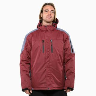 Pulse Men's Oxblood Carbon Crest Insulated Jacket
