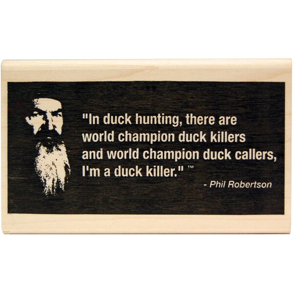 "Duck Commander Mounted Stamp 1""X3.5""X2""-Duck Killer"