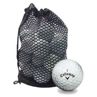 Pack of 100 Callaway Mix Recycled Golf Balls with Red Mesh Bag (Recycled)