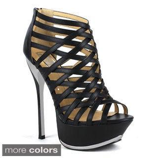 Fahrenheit Women's 'Amy-01' Strappy Stiletto Sandals