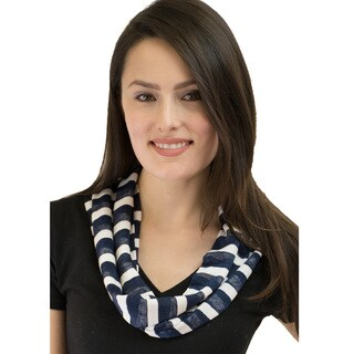 Le Nom Women's Classic Stripe Infinity Scarf