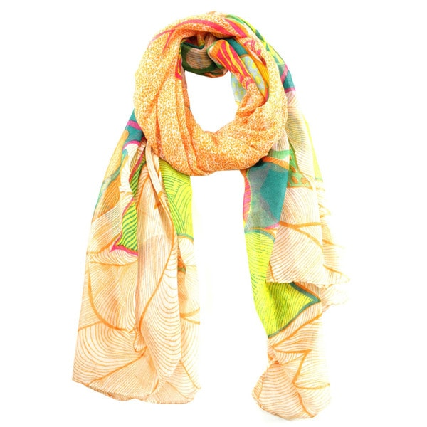Le Nom Women's Ethnic Tree Print Scarf