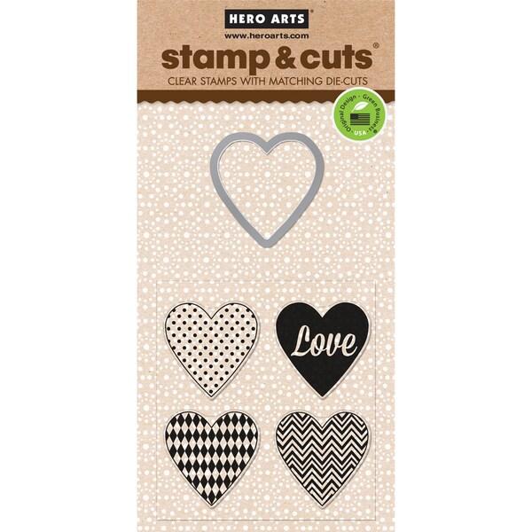 Hero Arts Stamp & Cuts-Hearts