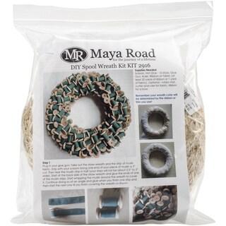 "Maya Road DIY Spool Wreath Kit-12"" (Built On A 10"" Wreath)"