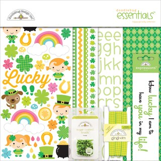 "Doodlebug Essentials Page Kit 12""X12""-Happy Go Lucky"