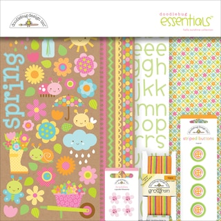 "Doodlebug Essentials Page Kit 12""X12""-Hello Sunshine"