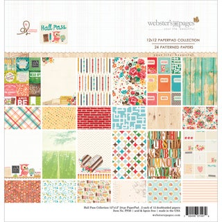 "Webster's Pages Paper Pad 12""X12"" 24/Pkg-Hall Pass"