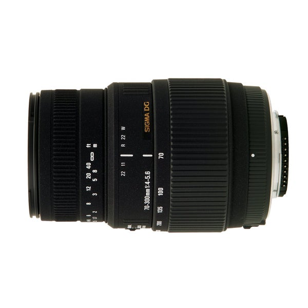 Sigma 70-300 F4-5.6 SLD DG Motorized Macro Nikon Lens + DLX Accessory Kit