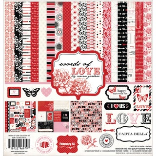 "Carta Bella Collection Kit 12""X12""-Words Of Love"