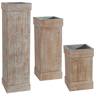 Indoor Pedestal Planters (Set of 3)