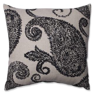 Pillow Perfect Henley Black/ Tan Throw Pillow