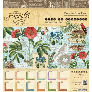 "Graphic 45 Paper Pad 8""X8"" 24/Pkg-Time To Flourish Calendar"