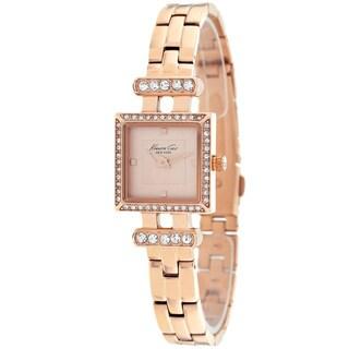 Kenneth Cole Women's KC4963 Classic Square Rosetone Bracelet Watch