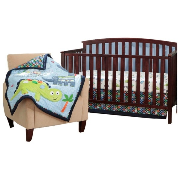 BananaFish Little Dino 3-piece Crib Bedding Set