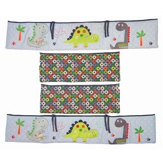 BananaFish Boys' Little Dino 4-Piece Bumper