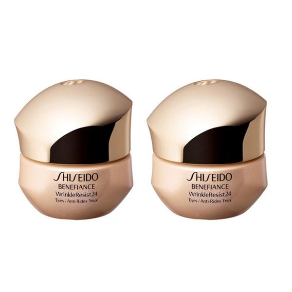 Shiseido Benefiance WrinkleResist24 Intensive Eye Contour Cream (Pack of 2)