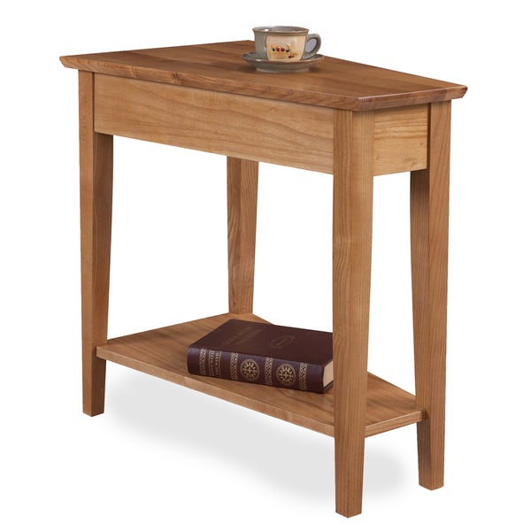 Solid Oak Recliner Wedge Table