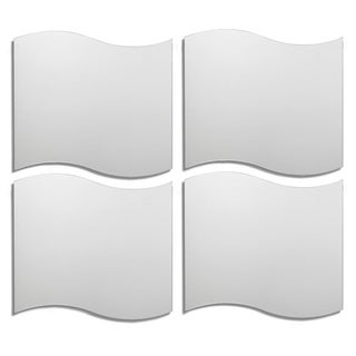 Wavy Tile Decorative Wall Mirror (Set of 4)