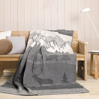 Sorrento 'Nature's Trail' Jacquard Oversized Throw Blanket