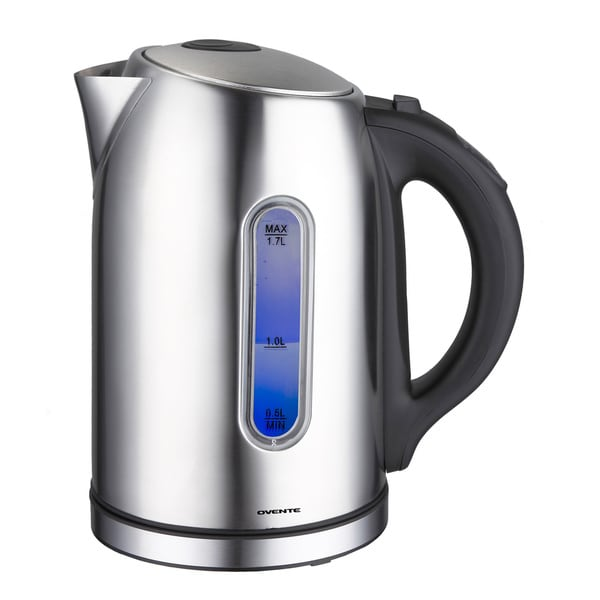 Ovente KS88 1.5L Brushed Stainless Steel Digital Kettle