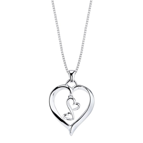 Love Grows Sterling Silver 3-heart Necklace