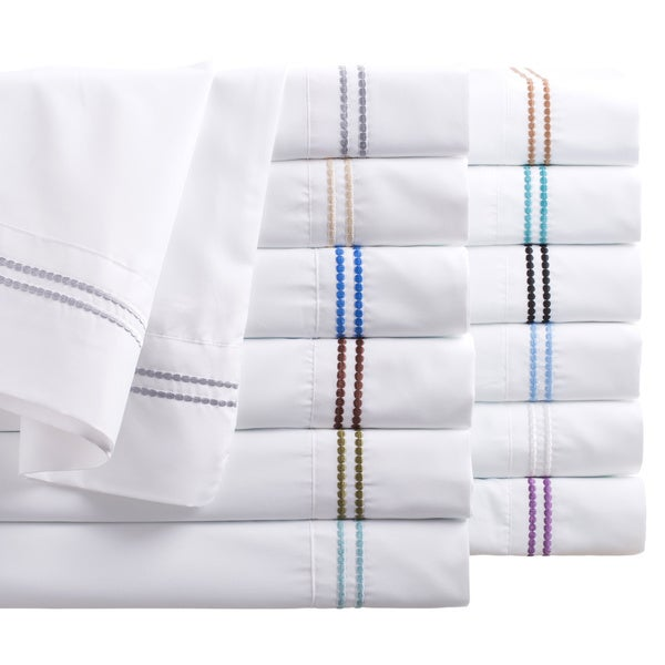 Matisse Hotel Collection Microfiber Two-line Dot Sheet Set