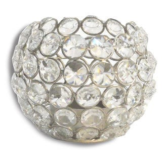 Alta Home Crystal Small Round Globe Candle Holder (India)