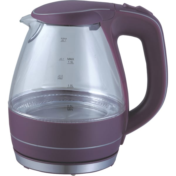 Ovente KG83P Purple 1.5L Glass Electric Kettle