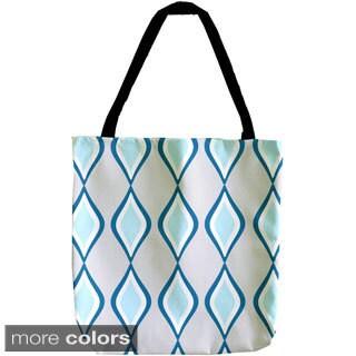 Woven Geometric 18-inch Tote Bag