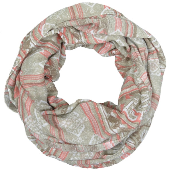 Aztec Tribal Printed Lightweight Infinity Circle Scarf