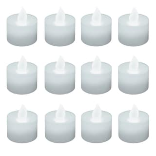 Battery Operated White LED Tea Lights (Pack of 12)