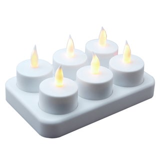 Rechargeable LED Tea Light Candles (6-pack)