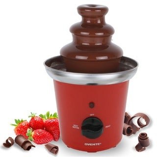 Ovente SBL-811 Stainless Steel 3-tier Red Chocolate Fountain