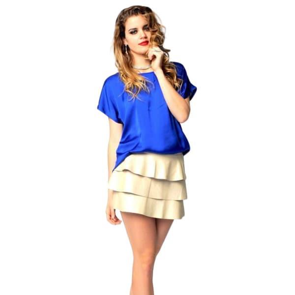Sara Boo Faux Leather Mini Skirt