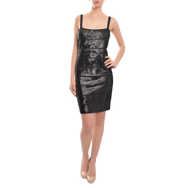BCBG Maxazria Black All-over Sequin Nadine Cocktail Dress