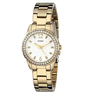 Guess 'Classic' Women's U0445L2 Gold Tone Stainless Steel Watch
