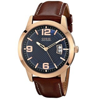 Guess 'Classic' Men's U0494G2 Rose Gold Tone Stainless Steel Watch