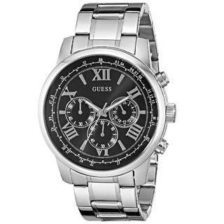 Guess 'Classic Sport' Men's U0379G1 Stainless Steel Watch