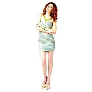 Multi Color Strapless Bandage Dress
