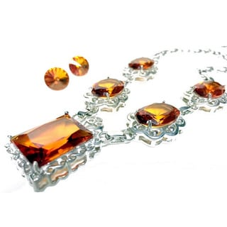 Madame Earth Sherry Quartz Necklace and Stud Earring Set